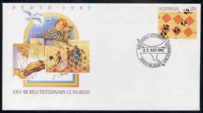 Australia 1983 World Vetenary Congress 27c postal stationery envelope with Special illustrated Congress cancellation
