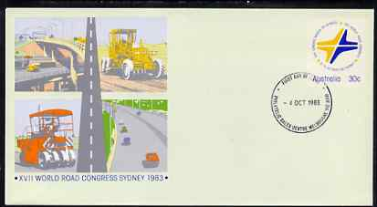 Australia 1983 World Road Congress 30c postal stationery envelope with first day cancellation
