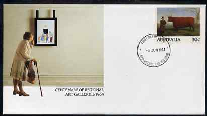 Australia 1984 Centenary of Regional Art Galleries 30c postal stationery envelope with first day cancellation