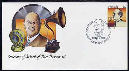 Australia 1982 Centenary of Birth of Peter Dawson (Baritone) 24c postal stationery envelope with special illustrated