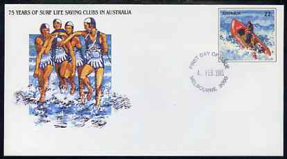 Australia 1981 Surf Life Saving Clubs Anniversary 22c postal stationery envelope with first day cancellation