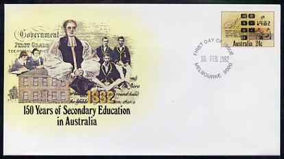 Australia 1982 150 years of Secondary Education 24c postal stationery envelope with first day cancellation