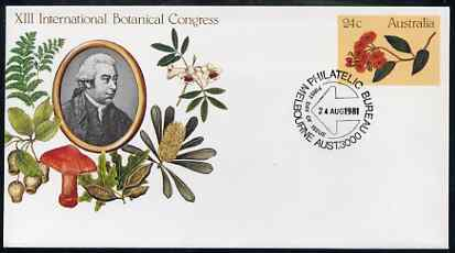 Australia 1981 International Botanical Congress 24c postal stationery envelope with special Melbourne first day cancellation
