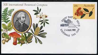 Australia 1981 International Botanical Congress 24c postal stationery envelope with special illustrated Lilydale first day cancellation