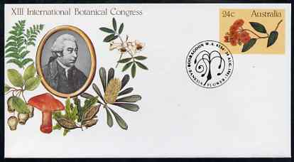 Australia 1981 International Botanical Congress 24c postal stationery envelope with special illustrated Booragoon first day cancellation