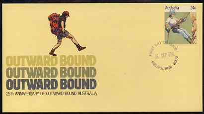 Australia 1981 Outward Bounds 25th Anniversary 24c postal stationery envelope with first day cancellation