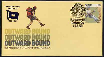 Australia 1981 Outward Bounds 25th Anniversary 24c postal stationery envelope with special illustrated first day cancellation