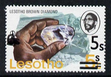 Lesotho 1980 5s on 6c on 5c brown Diamond unmounted mint (SG 410A)