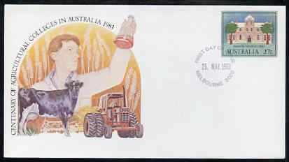 Australia 1983 Centenary of Agricultural Colleges 27c postal stationery envelope with first day cancellation