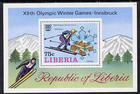 Liberia 1976 Innsbruck Winter Olympics m/sheet (skiing) unmounted mint SG MS 1266