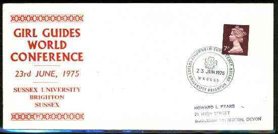 Great Britain 1975 Commemorative cover for Brighton Girl Guides World Conference with special illustrated cancel