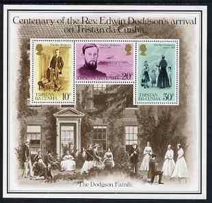 Tristan da Cunha 1981 Cent of Rev Edwin Dodgson's Arrival m/sheet unmounted mint, SG MS 303