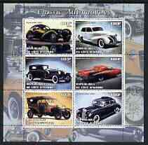 Ivory Coast 2003 Classic Cars perf sheetlet containing 6 values unmounted mint