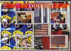 Comoro Islands 2005 Paintings (Pop Art) large perf sheetlet containing 5 values unmounted mint