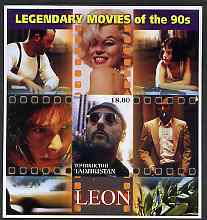 Tadjikistan 2002 Legendary Movies of the '90's - Leon, large imperf sheetlet containing 1 value unmounted mint (also shows Marilyn Monroe)