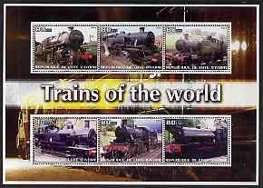 Ivory Coast 2003 Trains of the World #1 perf sheetlet containing 6 values unmounted mint