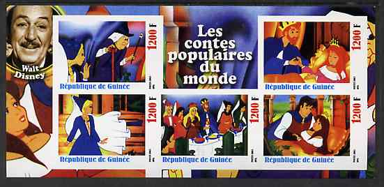 Guinea - Conakry 2003 Walt Disney - Fairy Tales #1 - Sleeping Beauty imperf sheetlet containing 5 values unmounted mint