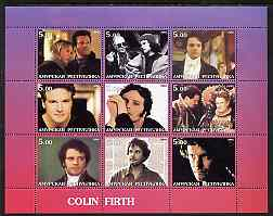 Amurskaja Republic 2002 Colin Firth perf sheetlet containing set of 9 values unmounted mint