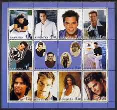 Kamchatka Republic 2000 Ricky Martin perf sheetlet containing 12 values unmounted mint