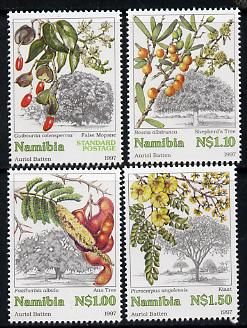 Namibia 1997 Trees perf set of 4 unmounted mint, SG 740-43*, stamps on trees