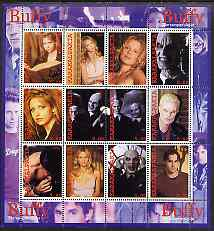 Karakalpakia Republic 2002 Buffy the Vampire Slayer #1 perf sheetlet containing 12 values unmounted mint