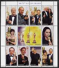 Buriatia Republic 2000 The 72nd Academy Awards perf sheetlet containing set of 12 values unmounted mint
