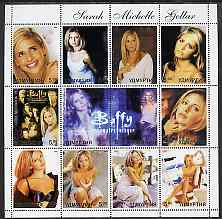 Udmurtia Republic 2003 Sarah Michelle Gellar (Buffy the Vampire Slayer) perf sheetlet containing 12 values unmounted mint