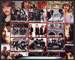 Chakasia 2003 The Beatles perf sheetlet containing set of 9 values unmounted mint