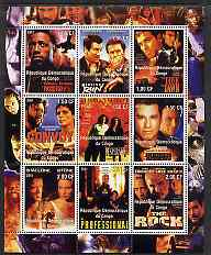 Congo 2001 Movie Posters #1 perf sheetlet containing set of 9 values unmounted mint