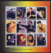 Tatarstan Republic 2000 Jean Claude Van Damme perf sheetlet containing set of 12 values unmounted mint