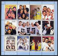 Buriatia Republic 2001 N-Sync perf sheetlet containing 12 values unmounted mint