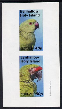 Eynhallow 1982 Parrots #03 imperf set of 2 values (40p & 60p) unmounted mint