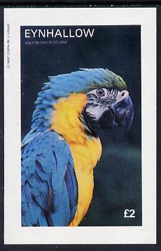 Eynhallow 1982 Parrots #03 imperf deluxe sheet (�2 value) unmounted mint