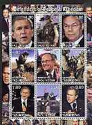 Tadjikistan 2001 Defenders of Peace & Freedom perf sheetlet containing 9 values unmounted mint