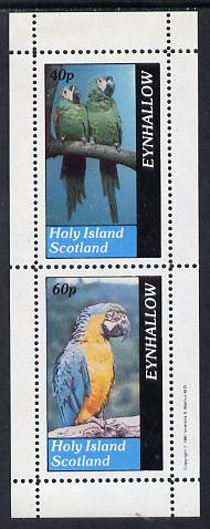 Eynhallow 1981 Parrots #01 perf set of 2 values (40p & 60p) unmounted mint