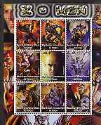 Congo 2002 X-Men perf sheet containing set of 9 values unmounted mint