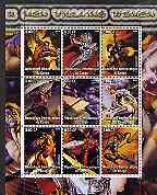 Congo 2002 X-Men, Villains, Women perf sheet containing set of 9 values unmounted mint