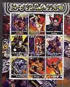 Congo 2002 X-Men, X-Villains perf sheet containing set of 9 values unmounted mint