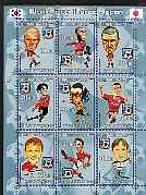Kyrgyzstan 2001 Football - World Cup Korea Japan #3 perf sheetlet containing 9 values unmounted mint