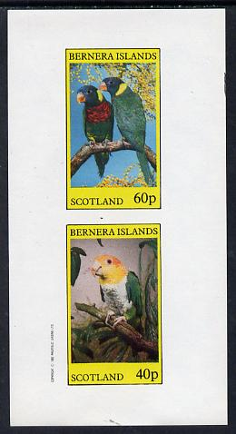 Bernera 1982 Parrots imperf set of 2 values (40p & 60p) unmounted mint