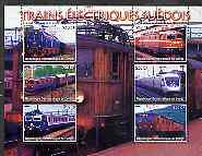 Congo 2005 Swedish Electric Trains perf sheetlet containing set of 6 values unmounted mint