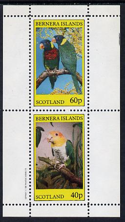 Bernera 1982 Parrots perf set of 2 values (40p & 60p) unmounted mint