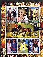 Congo 2005 Royal Marriage - Charles & Camilla #4 perf sheetlet containing set of 6 values unmounted mint