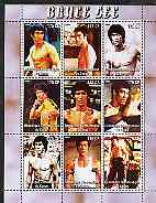 Congo 2005 Bruce Lee perf sheetlet containing set of 9 values unmounted mint