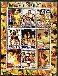 Congo 2005 Friends (TV Series) perf sheetlet containing 9 values unmounted mint
