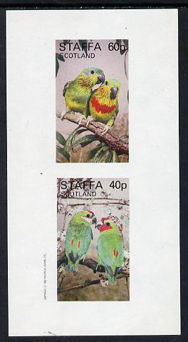 Staffa 1982 Parrots #01 imperf set of 2 values (40p & 60p) unmounted mint
