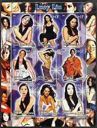 Congo 2005 Lucy Liu perf sheetlet containing 9 values unmounted mint
