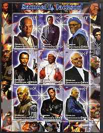Congo 2005 Samuel L Jackson perf sheetlet containing 9 values unmounted mint