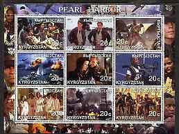 Kyrgyzstan 2001 Pearl Harbour (Movie) perf sheetlet containing 9 values unmounted mint