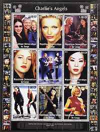 Congo 2001 Charlie's Angels perf sheetlet containing 9 values unmounted mint